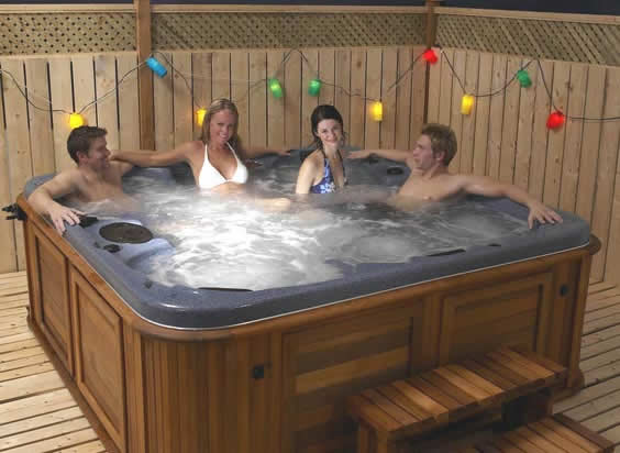 Hot Tub on Patio